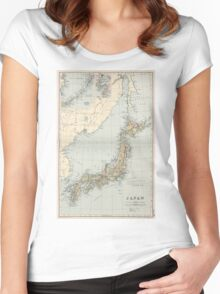 Vintage Map of Japan (1892) Women's Fitted Scoop T-Shirt