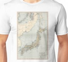 Vintage Map of Japan (1892) Unisex T-Shirt