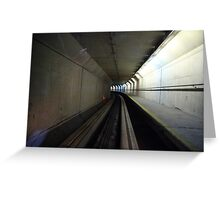 Sci-fi Tunnel, Stansted Airport, London, EU  Greeting Card