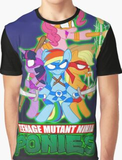 Teenage Mutant Ninja Ponies Graphic T-Shirt