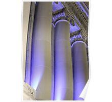 Blue Columns Poster
