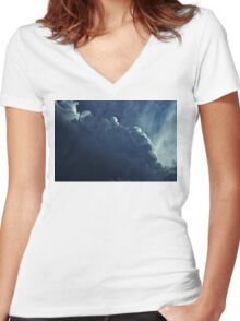 Partly Cloudy VII Women's Fitted V-Neck T-Shirt