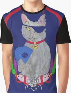Pawsitively Badass Graphic T-Shirt