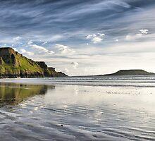 Rhosilli Bay, Wales by Rick  Senley