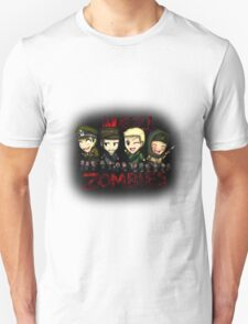 Nazi Zombies Cartoon Characters - Dempsey, Takeo, Nikolai, Richtofen T-Shirt