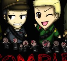Nazi Zombies Cartoon Characters - Dempsey, Takeo, Nikolai, Richtofen Sticker
