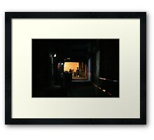 Light At The End Framed Print