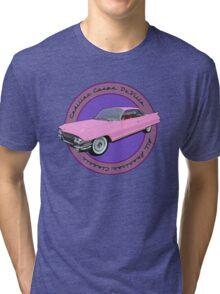 Pink Cadillac - Classic American Retro Car  Tri-blend T-Shirt