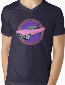 Pink Cadillac - Classic American Retro Car  Mens V-Neck T-Shirt