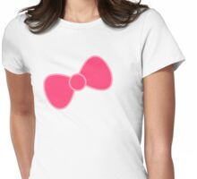 Pink Bow Womens Fitted T-Shirt