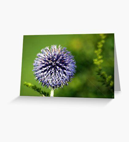 Blue Flower Landscape Greeting Card