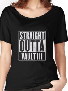 Straight Outta Vault 111 Women's Relaxed Fit T-Shirt