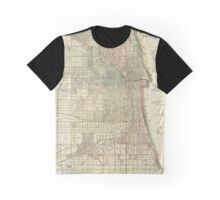 Vintage Map of Chicago (1857) Graphic T-Shirt