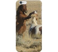 Fighting Wild Horses-Signed-2702 iPhone Case/Skin