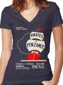 Pirates of Penzance  Women's Fitted V-Neck T-Shirt