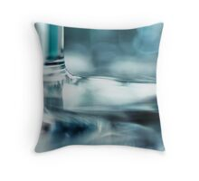 Together.... again... (bright blue version) Throw Pillow