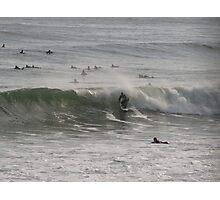 Surfing in Newport RI Photographic Print