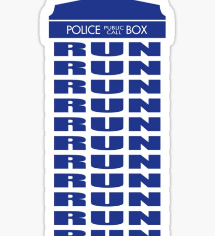 RUN Sticker