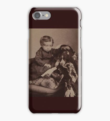 Justin with Spaniel iPhone Case/Skin
