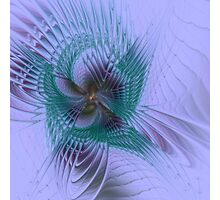 Fractal Pansy Photographic Print