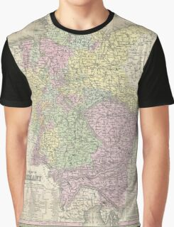 Vintage Map of Germany (1853) Graphic T-Shirt