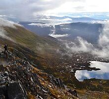 Scrambling along Glen Shiel Ridge, Scotland by Chris Gruar