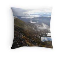 Scrambling along Glen Shiel Ridge, Scotland Throw Pillow