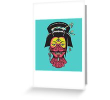 Samurai Geisha Greeting Card