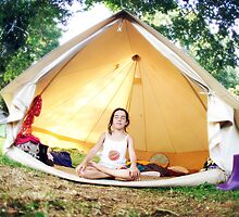 Meditation in the tent by Wari Om  Yoga Photography