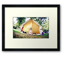Meditation in the tent Framed Print