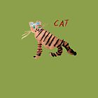 Cat on Green by ubiquitoid