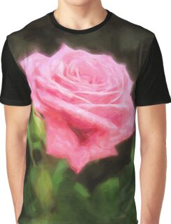 Pink Roses in Anzures 3 Vivid Oil Graphic T-Shirt