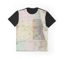 Vintage Map of Chicago (1869)  Graphic T-Shirt