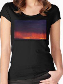 Sierra Blanca Sunset II Women's Fitted Scoop T-Shirt