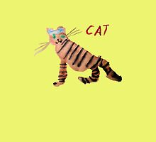 Cat on Yellow by ubiquitoid