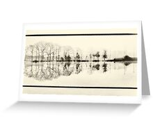 Misty morning in the park Greeting Card