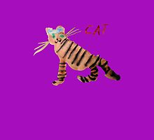 Cat on Purple by ubiquitoid