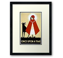 Once Upon a Time art cards and prints Framed Print