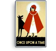 Once Upon a Time art cards and prints Canvas Print