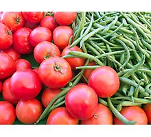 Farm Fresh Tomatoes and Beans Photographic Print