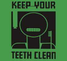 Keep your Teeth Clean One Piece - Short Sleeve