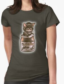 Kitten <3 Nutella Womens Fitted T-Shirt