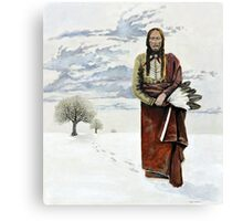 Quanah Parker Leaving his Home Canvas Print