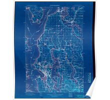 USGS Topo Map Washington State WA Seattle 243634 1897 125000 Inverted Poster