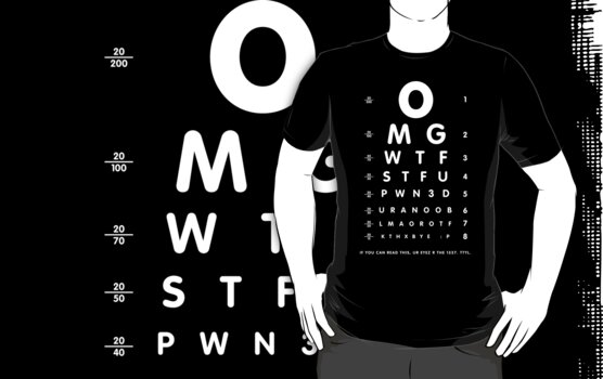 OMG 1337 eyesight chart by Robin Lund