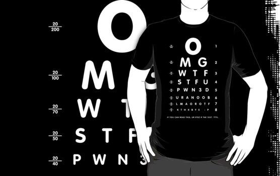 OMG 1337 eyesight chart by Robin Lund