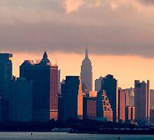 New York Sunrise Skyline by gzupruk