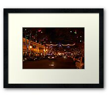 Holiday Streetscape Framed Print