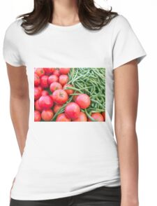 Farm Fresh Tomatoes and Beans Womens Fitted T-Shirt
