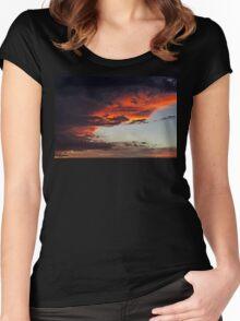 Sierra Blanca Sunset IV Women's Fitted Scoop T-Shirt